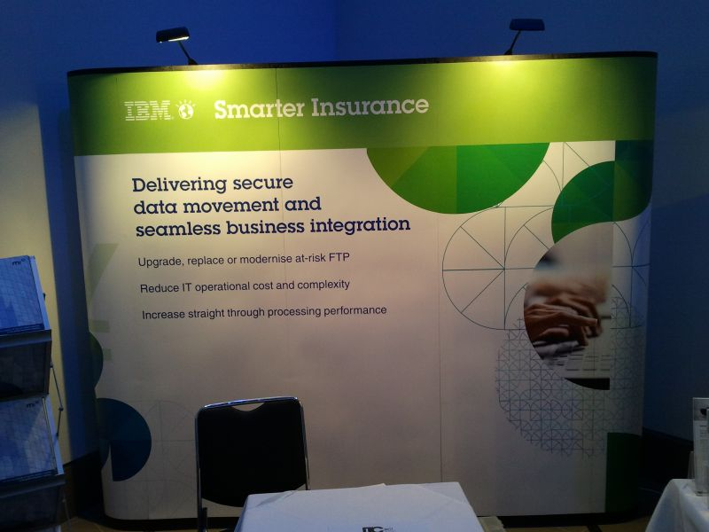 Sungard Exhibition Stand : Pop up stands